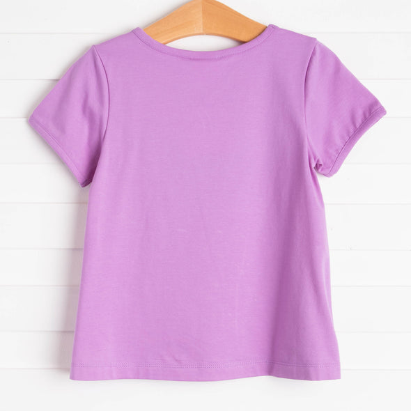 Tulip Trio Applique Shirt, Purple