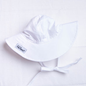 Flap Happy Floppy Hat White