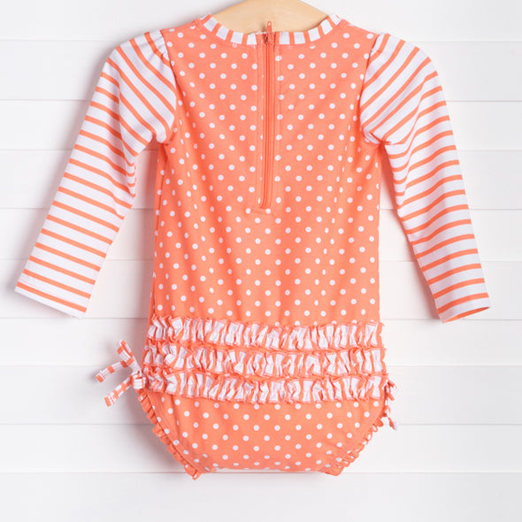 Coral Dot One Piece