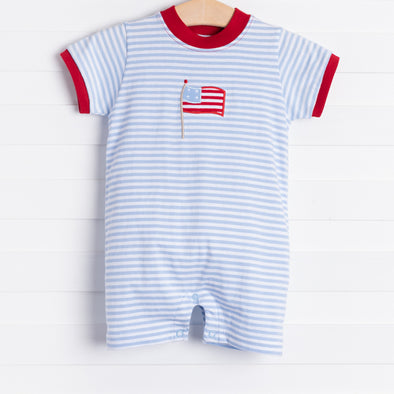 Little English Old Glory Romper