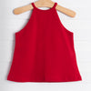 Little English Lily Top, Red