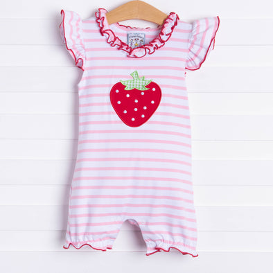 Three Sisters Strawberry Romper