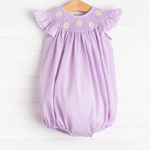 Daisies Go By Smocked Bubble, Lavender