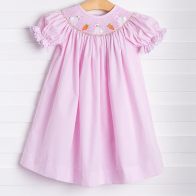 Fluffy Bunny Tail Smocked Bishop