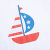 Patriotic Sailboat Graphic Tee
