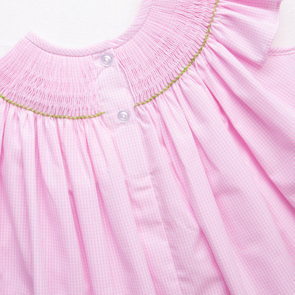Playdate Puppies Smocked Ruffle Short Set, Pink