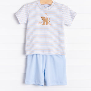 Squiggles Fawn Shorts Set