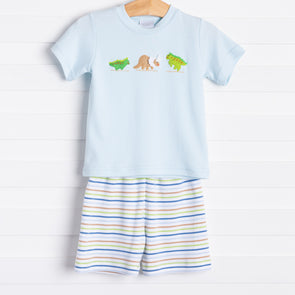 Squiggles Dino Trio Shorts Set