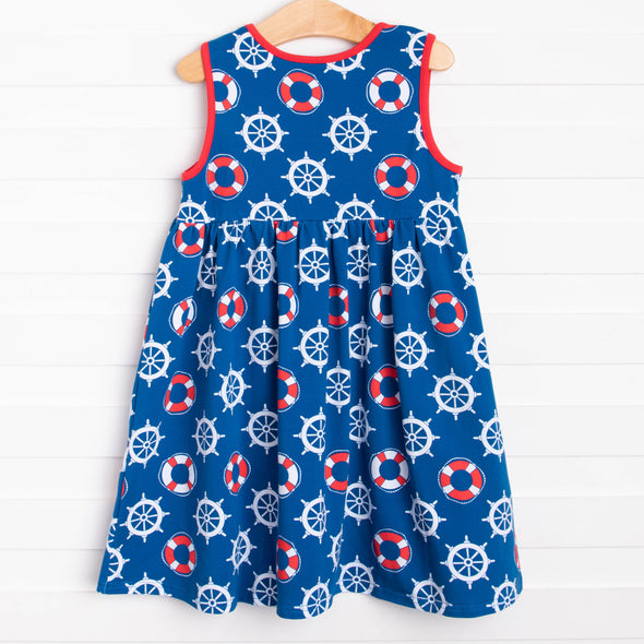 Seas the Day Dress, Blue