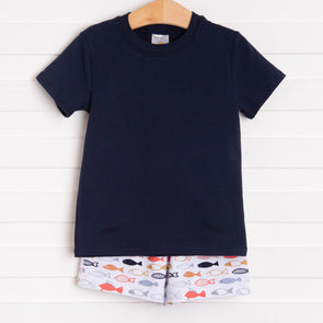 By The Sea Short Set, Navy