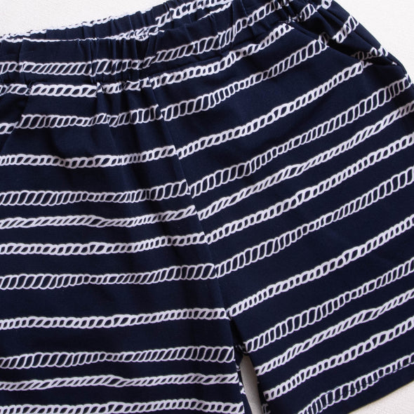 Knot Your Average Short Set, Navy