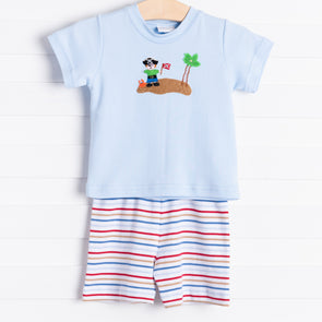 Squiggles Pirate Shorts Set