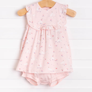 Baby Bunnies, Pink Bamboo Bloomer Set