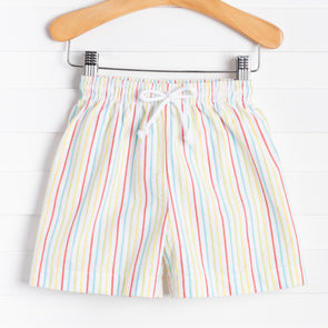 Lil Dippers Swim Trunks, Multi Stripe