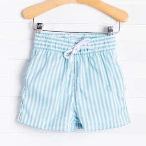 Dondolo Thomas Swim Trunks, Aqua Stripe