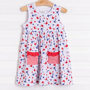 Anchors and Crabs Dress