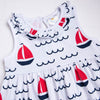 Sailing Into Summer Dress, Red