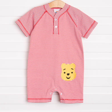 Silly Old Bear Romper, Red
