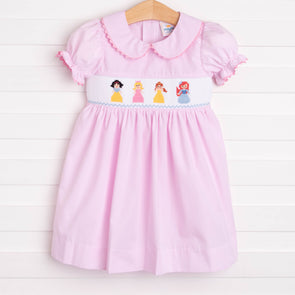 Princess Party Smocked Dress, Pink