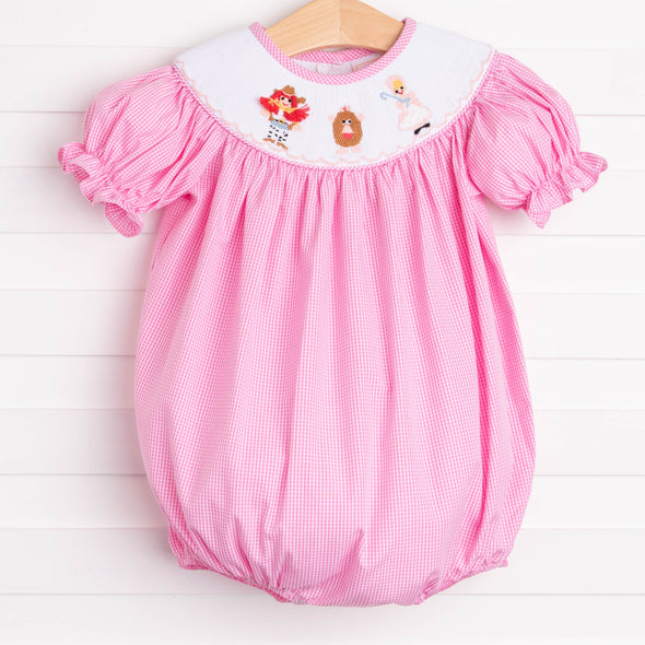 Story Time Friends Smocked Bubble, Pink