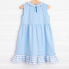 Princess Sisters Applique Dress, Blue