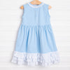 Three Princess Applique Dress, Blue