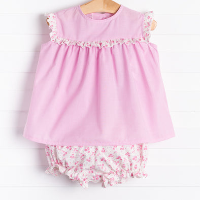 Anvy Kids Pink Floral Bloomer Set