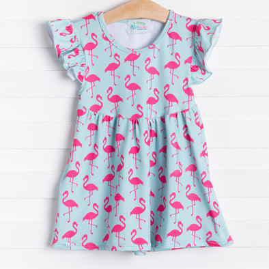 Festive Flamingo Dress