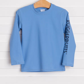 Rugged Butts Cornflower Blue Long Sleeve Rash Guard, Blue