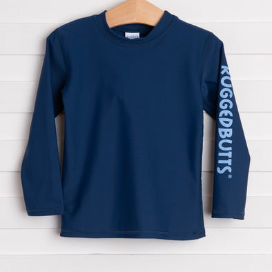 Rugged Butts Navy Long Sleeve Rash Guard, Navy