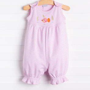 Squiggles Fishy Romper, Pink