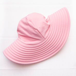 Ruffle Butts Pink Swim Hat, Pink