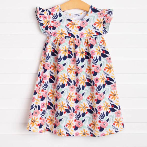 Flower Child Dress, Navy