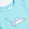 Where the Green Grass Grows Applique Shirt, Mint