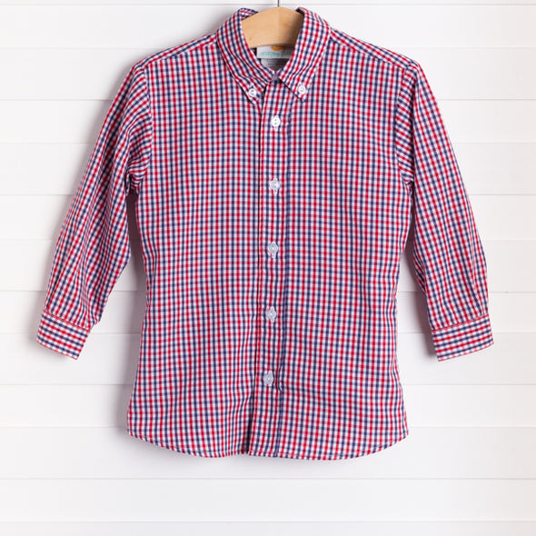 Lincoln Shirt, Red Plaid
