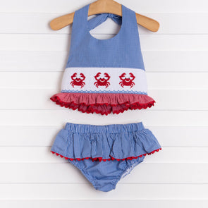 Cute and Crabby Two Piece Swim