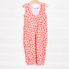 Pop of Pink Long Romper, Red Dots