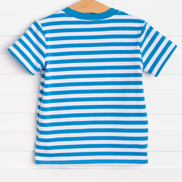 Hooray Fore Summer Applique Shirt, Blue Stripe