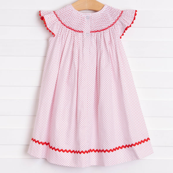 Salute The Flag Smocked Dress, Red