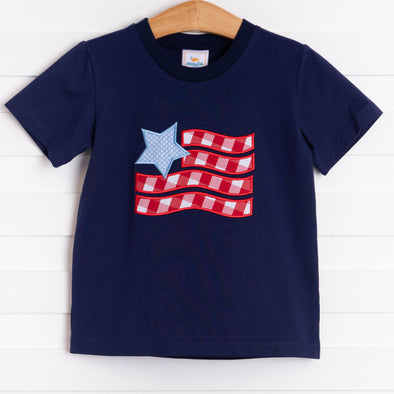 Old Glory Applique Shirt, Navy