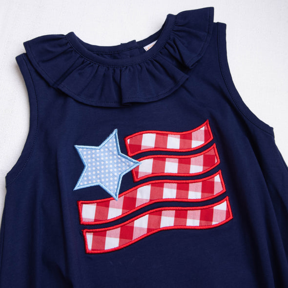 Old Glory Applique Bubble, Navy