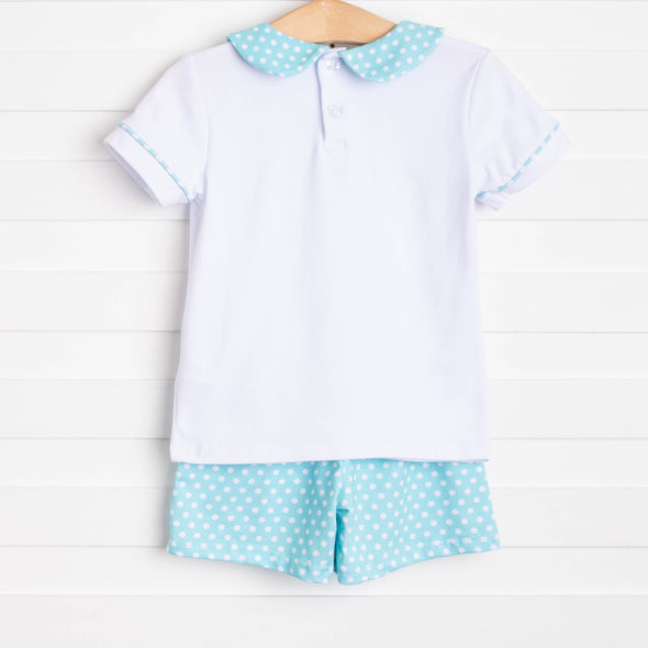 Cute and Crabby Smocked Short Set