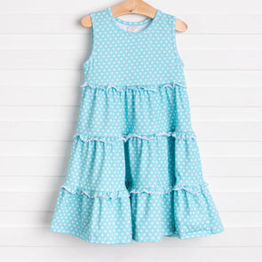 Picnic Promises Dress, Aqua