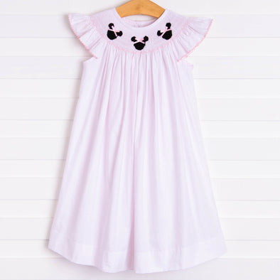 Pretty in Pink Mouse Smocked Dress