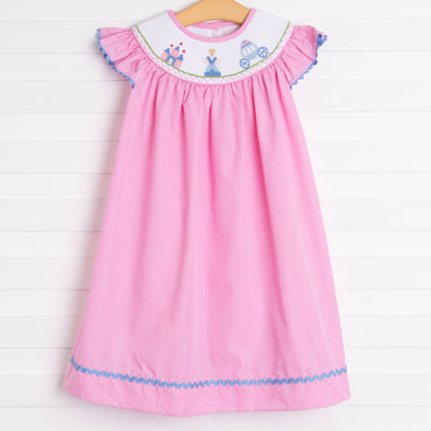 Fairytale Princess Smocked Dress, Pink