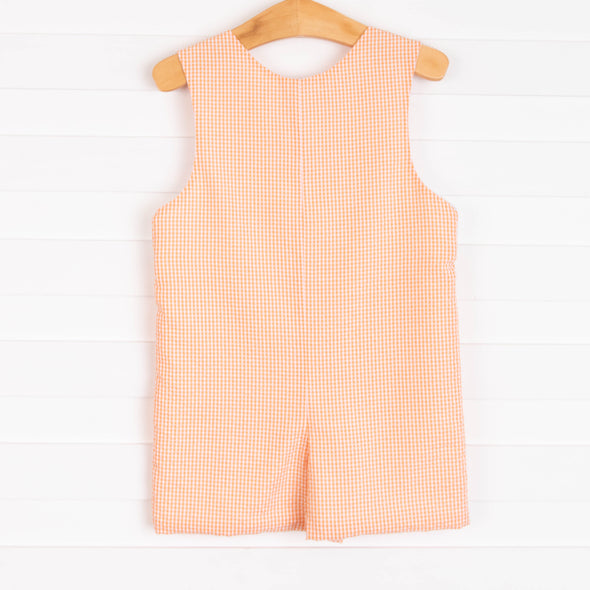 Pinchy Pal Smocked Jon Jon, Orange Gingham