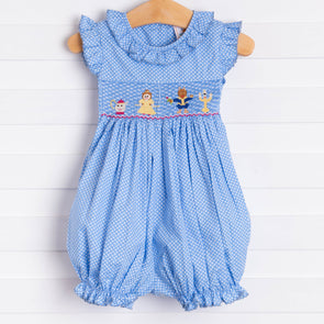 Enchanted Princess Smocked Bubble Romper