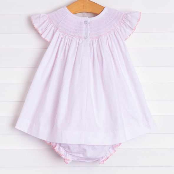 Pretty in Pink Mouse Smocked Diaper Set