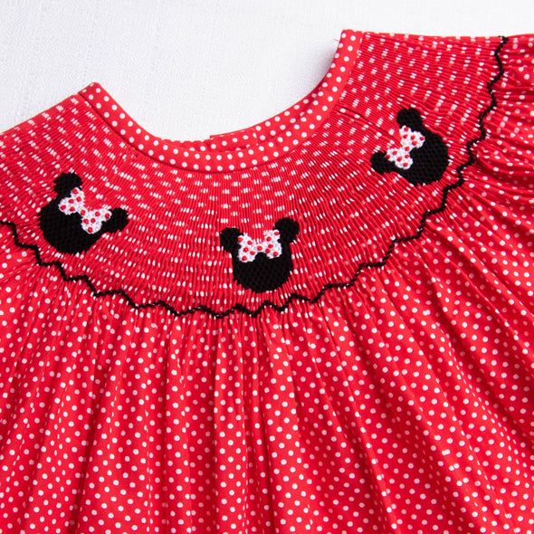 Miss Mouse Smocked Ruffle Short Set