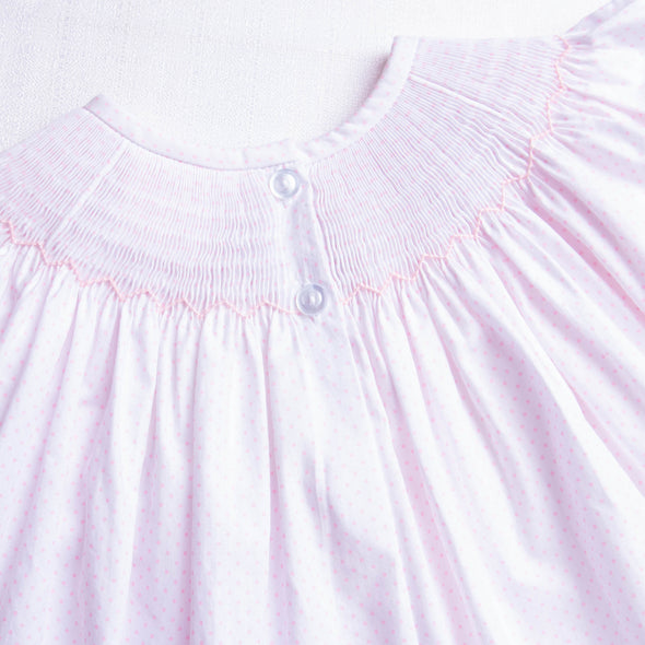 Pretty in Pink Mouse Smocked Diaper Set, Pink